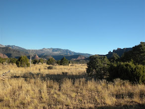 Photo: As the road leaves North Cottonwood drainage we found a camp spot with view of the Abajo Mtns.