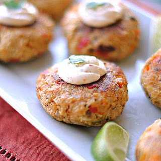 Chipotle Chicken Croquettes with Spicy Mustard Sauce.
