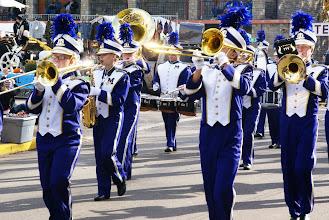Photo: Purple brass band