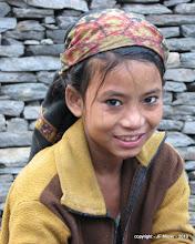 Photo: Une bien jolie jeune Nepalaise