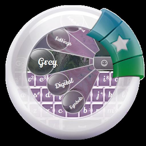 个人化のグレー GO Keyboard LOGO-記事Game
