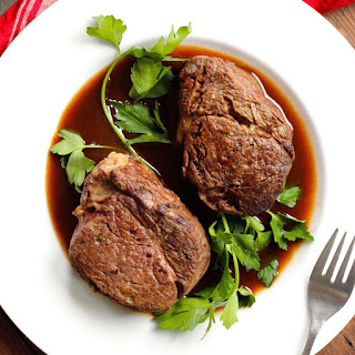 Filet Mignon with Red Wine Reduction Sauce Recipe