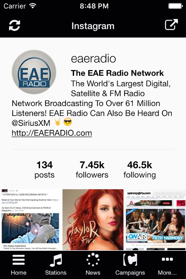 EAE Radio Networks- screenshot