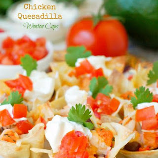 Chicken Quesadilla Wonton Cups