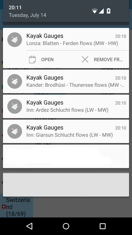 Kayak Gauges- screenshot