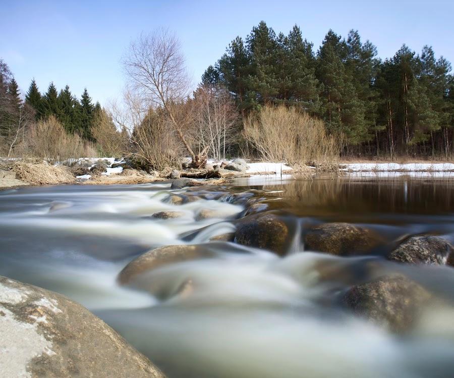 river dam by Eugenijus Rauduve - Landscapes Waterscapes