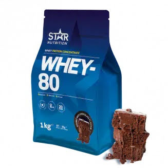 Star Nutrition Whey 80 1kg - Double Rich Chocolate