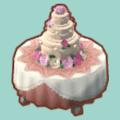 バラのウェディングケーキ