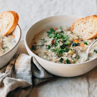 Slow Cooker Creamy Turkey Rice Soup.