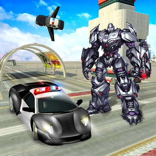Police Car Transformer Robot Wars