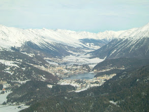 Photo: In front of us is St. Moritz and behind it is the airport http://www.swiss-flight.net
