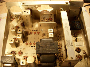 Photo: Rear view after removing dial and escutcheon.  Note illumination bracket, also removed, is to the left near the meter opening