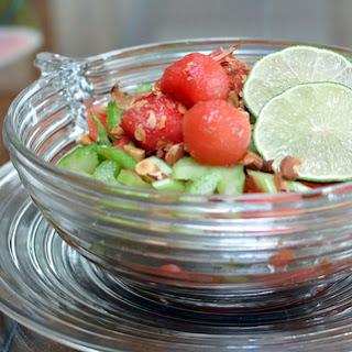 Watermelon & Celery Salad with Honey-Lime Vinaigrette ♥