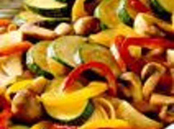 Three Roast Peppers With Zucchini Recipe