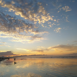 Crispy clouds by Francisco Little - Instagram & Mobile Android ( sunrise, ocean, beach, dawn, cape town, clouds )