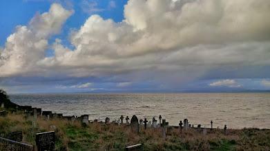 Photo: Средневековое кладбище на берегу такого же пролива