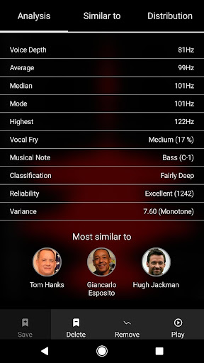 Screenshot for Vocular - How deep is your voice? in United States Play Store
