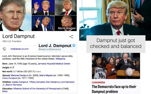Donald Trump To Lord Dampnut