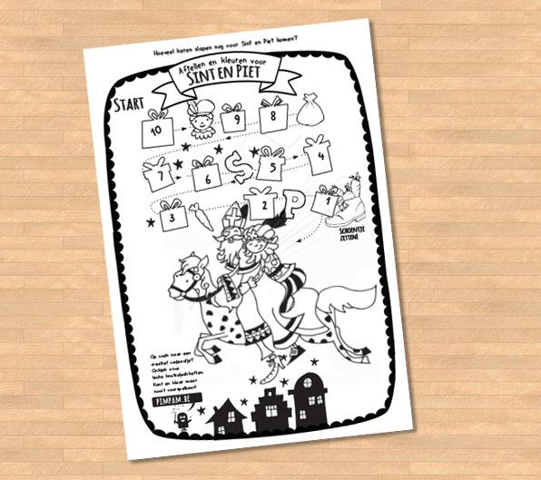 GRATIS Aftel-kalender  SINT en PIET