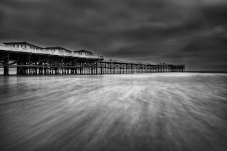 """Photo: """"Calm Waters"""" Long exposure at the Crystal Pier, in a very ominous day. I also posted this image on 500px, if you have a portfolio there please add me and I sure will add you back. As always, thanks for your feedback!"""