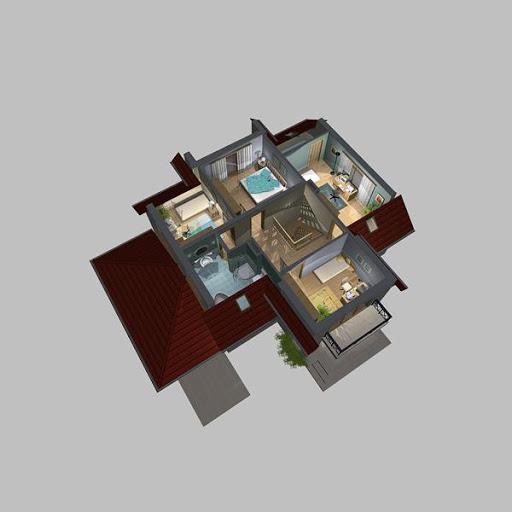 APS 120 - Rzut poddasza 3D
