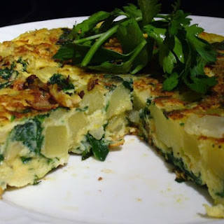 Spinach and Potato Tortilla.