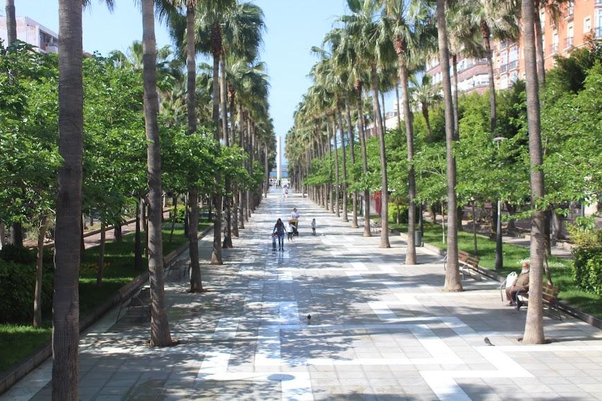 Avenida Federico García Lorca a primera hora de la mañana.