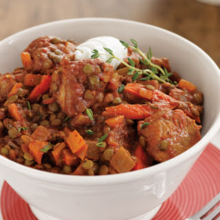 Smoky Pork Lentil Stew.