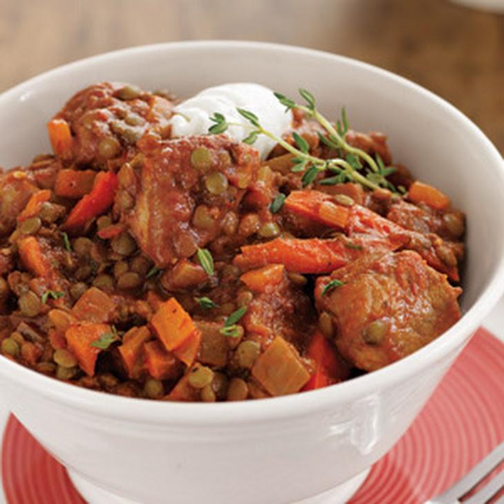 Smoky Pork Lentil Stew Recipe