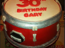 Drum shaped cake