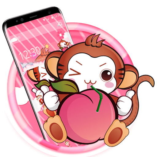 Cute Peach Monkey Theme