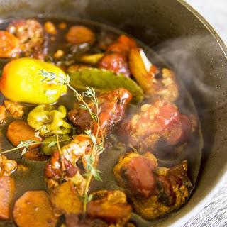 Jamaican Brown-Stew (Braised) Cauliflower.