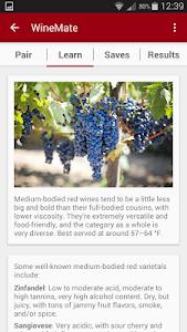 WineMate - Food + Wine Pairing screenshot 1