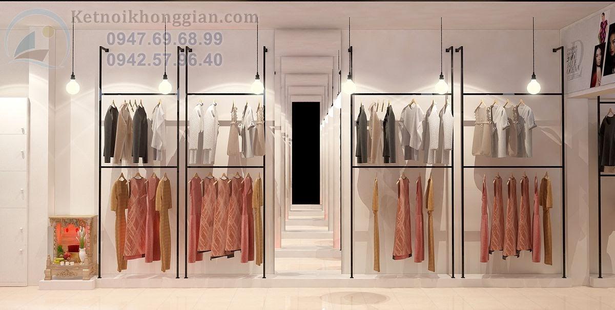 thiết kế shop thời trang ảo diệu với 2 cái gương