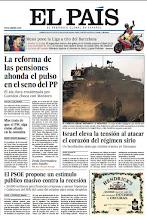 Photo: Portada del lunes 5 de mayo: La reforma de las pensiones ahonda el pulso en el seno del PP; Israel eleva la tensión al atacar el corazón del régimen sirio; El PSOE propone un estímulo público masivo contra la recesión; Mas trata de que el PSC siga como aliado en la consulta.