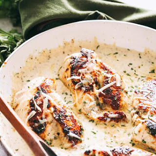 Creamy Garlic Herb Chicken.