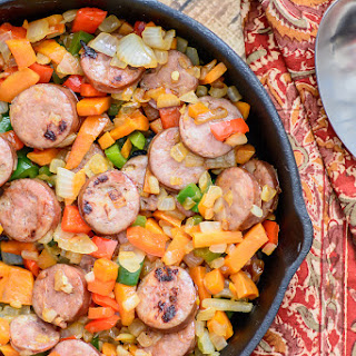 One Skillet Sausage and Sweet Potato Hash