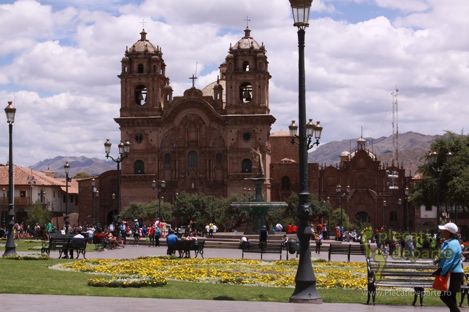 Catedrala Cusco, in Plaza mayor sau Plaza de Armas, in Cusco, Peru