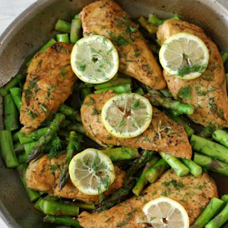 Lemon Dill Chicken and Asparagus.