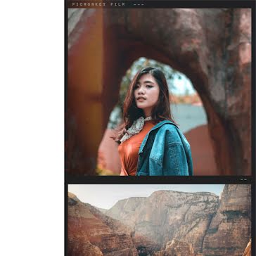Canyon Portrait - Instagram Post Template