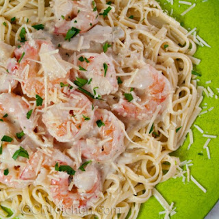 Fettucine with Clam and Shrimp Alfredo Sauce