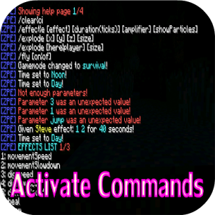 Activate Commands Mod for MCPE screenshot