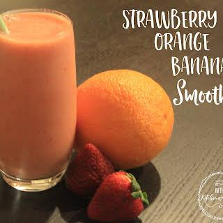 Strawberry Orange Banana Smoothie.