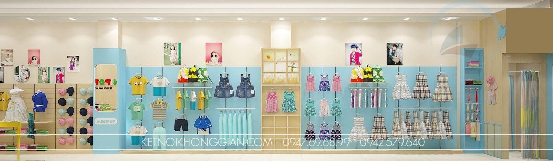 thiết kế shop thời trang trẻ em rẻ đẹp