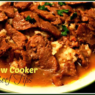 Slow Cooker Beef Tips!.