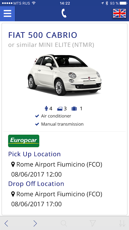 Bookingcar – car hire app- screenshot