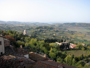 Photo: The view from the other side of Montepulciano, San Biagio in the middle ground.