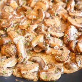 Creamy Black Pepper Paleo Mushrooms (GF, DF).