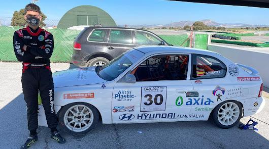 Hyundai Almerialva con el joven piloto almeriense de 15 años Francisco Puertas