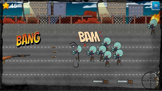 Guns Shooting Zombie Outbreak: 2d Shooter Survival - náhled